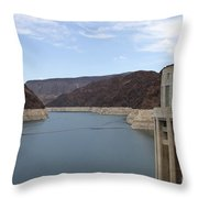 Lake Mead Seen From The Hoover Dam Throw Pillow