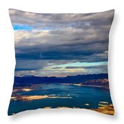 Lake Mead Thunderstorm Throw Pillow