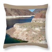 Lake Mead In 2000 Throw Pillow