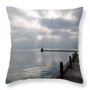 Lake Michigan At Rest Throw Pillow