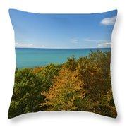 Lake Michigan Cut River 1 Throw Pillow