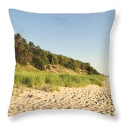 Lake Michigan Dunes 02 Throw Pillow