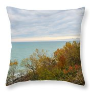 Lake Michigan Fall Throw Pillow