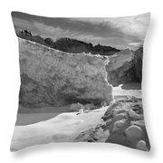 Lake Michigan Ice II Throw Pillow