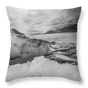Lake Michigan Ice Iv Throw Pillow