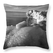 Lake Michigan Ice X Throw Pillow