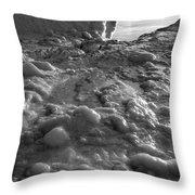 Lake Michigan Ice Xii Throw Pillow
