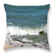 Lake Michigan Shore Throw Pillow