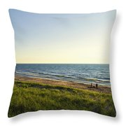 Lake Michigan Shoreline 01 Throw Pillow