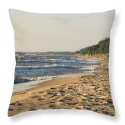 Lake Michigan Shoreline 03 Throw Pillow