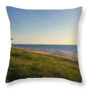 Lake Michigan Shoreline 05 Throw Pillow