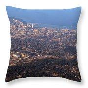 Lake Michigan Shoreline - Downtown Milwaukee  Throw Pillow