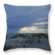 Lake Michigan Sky Throw Pillow