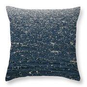 Lake Michigan Sparkling Water Throw Pillow