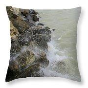 Lake Michigan Splash Throw Pillow