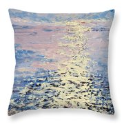 Lake Michigan Sunrise Throw Pillow