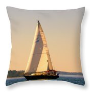 Lake Murray Sc Sailing Throw Pillow
