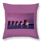 Lake Murray Towers In Evening Throw Pillow