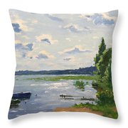 Lake Naroch Throw Pillow