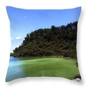 Lake Ngakoro Rotorua New Zealand Throw Pillow