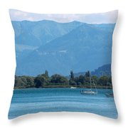 Lake Of Constance Throw Pillow