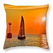 Lake Of Gold Throw Pillow