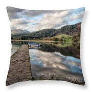 Lake Of Menteith Throw Pillow