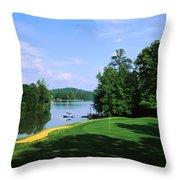 Lake On A Golf Course, Legend Course Throw Pillow