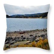Lake On The Grand Mesa Colorado Throw Pillow