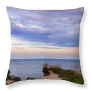 Lake Ontario At Scarborough Bluffs Throw Pillow