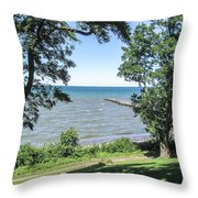 Lake Ontario At Webster Park Throw Pillow