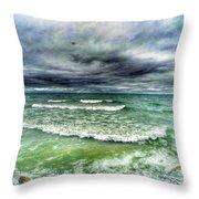 Lake Ontario Waves Throw Pillow