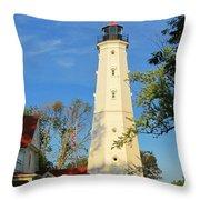 Lake Park Light House 2 Throw Pillow