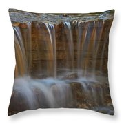 Lake Park Waterfall Throw Pillow