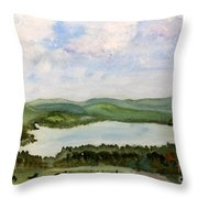Lake Parker In Glover Throw Pillow