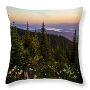 140701a-042 Lake Pend Oreille From The Cabinets Throw Pillow