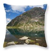 Lake Piccolo - Val Di Sole Throw Pillow