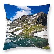 lake Pietra Rossa - Italy Throw Pillow