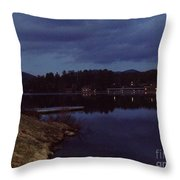 Lake Placid At Night Throw Pillow
