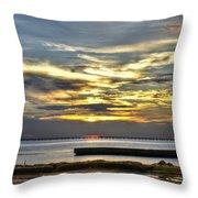 Lake Pontchartrain Sunset 2 Throw Pillow