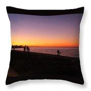 Lake Pontchartrain Sunset Throw Pillow