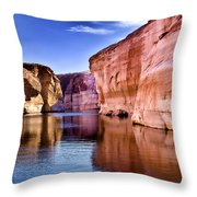Lake Powell Antelope Canyon Throw Pillow