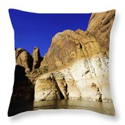 Lake Powell Rock And Sky Throw Pillow by Thomas R Fletcher