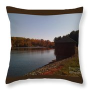Lake Pump House Throw Pillow