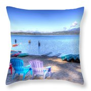 Lake Quinault Dream Throw Pillow by Heidi Smith