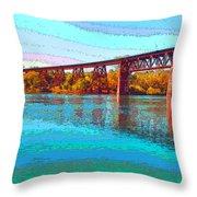 Lake Redding Ca Digital Painting Throw Pillow