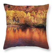 Lake Reflection In Fall 2 Throw Pillow