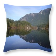Buntzen Lake, Bc Reflections Throw Pillow