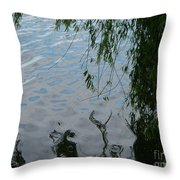 Lake Reflections Of Blue Throw Pillow