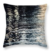 Lake Ripples In Blue At Sunset Throw Pillow